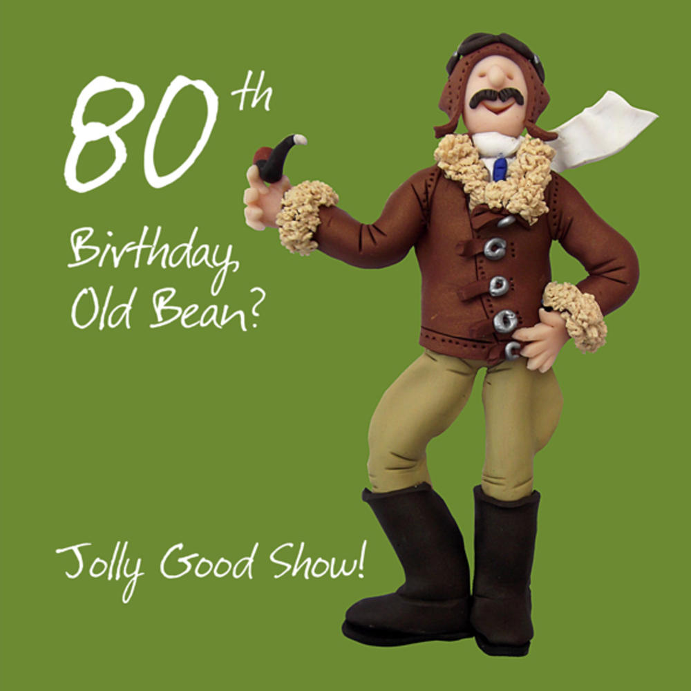 80th Birthday Male Greeting Card One Lump or Two Range