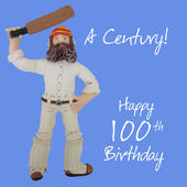 100th Birthday Male Greeting Card One Lump or Two Range