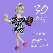 30th Birthday Female Greeting Card One Lump or Two Range