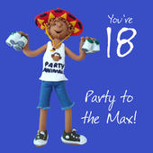 18th Birthday Male Greeting Card One Lump or Two Range