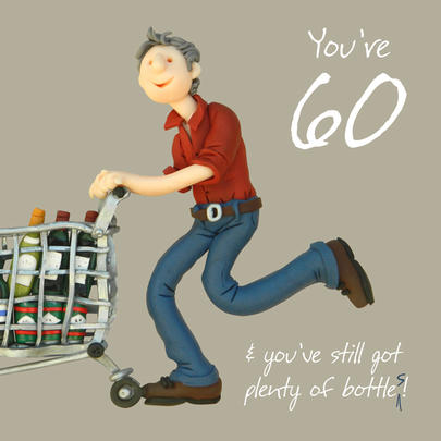 60th Birthday Male Greeting Card One Lump or Two Range