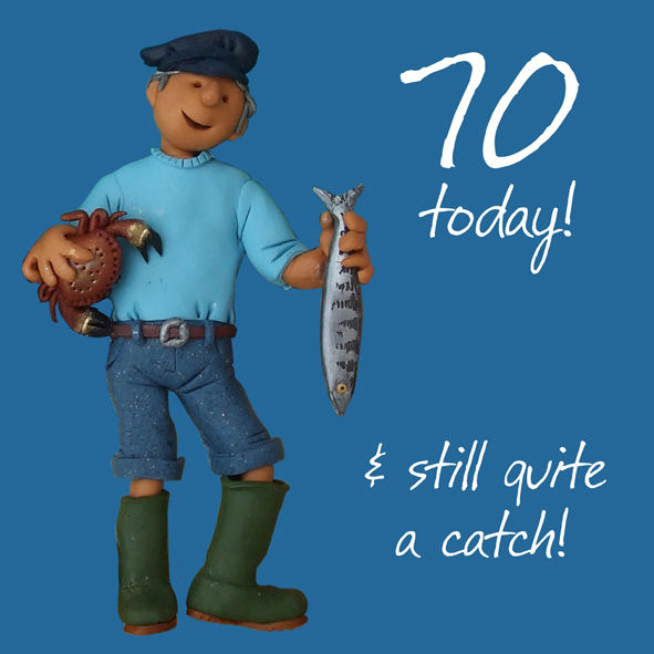 70th Birthday Male Greeting Card One Lump Or Two Range