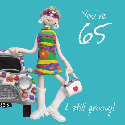 65th Birthday Female Greeting Card One Lump or Two Range