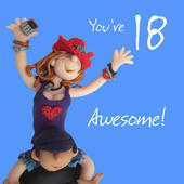 18th Birthday Female Greeting Card One Lump or Two Range