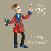 75th Birthday Male Greeting Card One Lump or Two Range