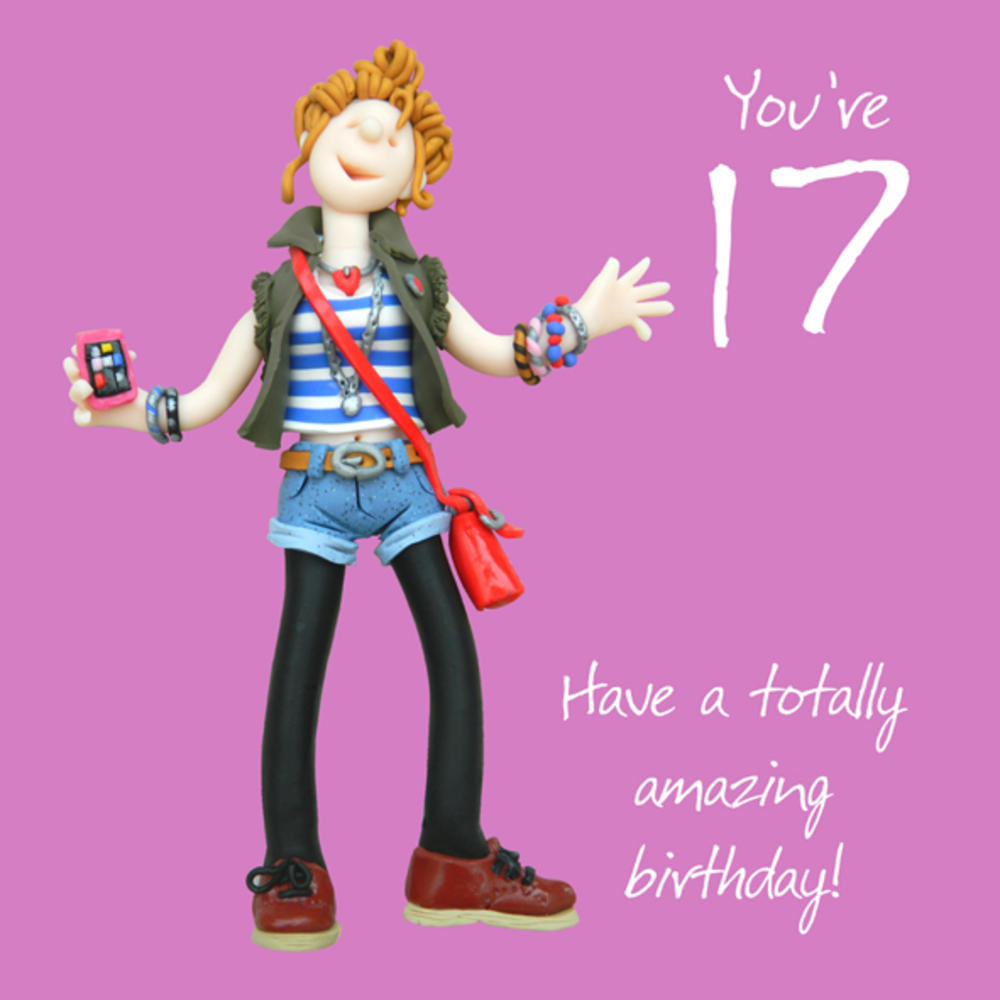 17th Birthday Female Greeting Card One Lump or Two Range