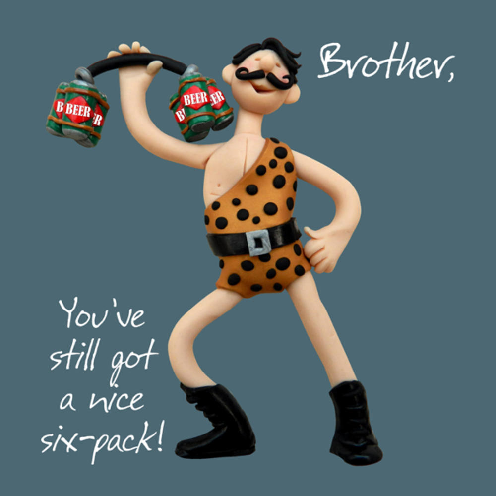Brother Six-Pack Birthday Greeting Card One Lump or Two