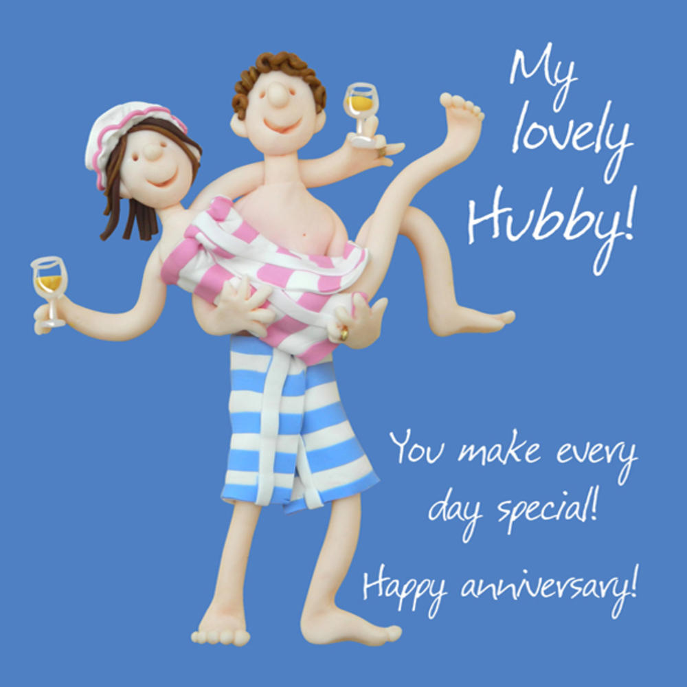 My Lovely Hubby Anniversary Greeting Card One Lump or Two