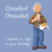 Greatest Grandad Birthday Greeting Card One Lump or Two