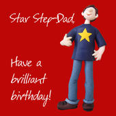 Star Step-Dad Birthday Greeting Card One Lump or Two