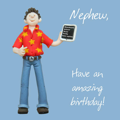 Nephew Amazing Birthday Greeting Card One Lump or Two