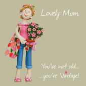 Vintage Mum Birthday Greeting Card One Lump or Two
