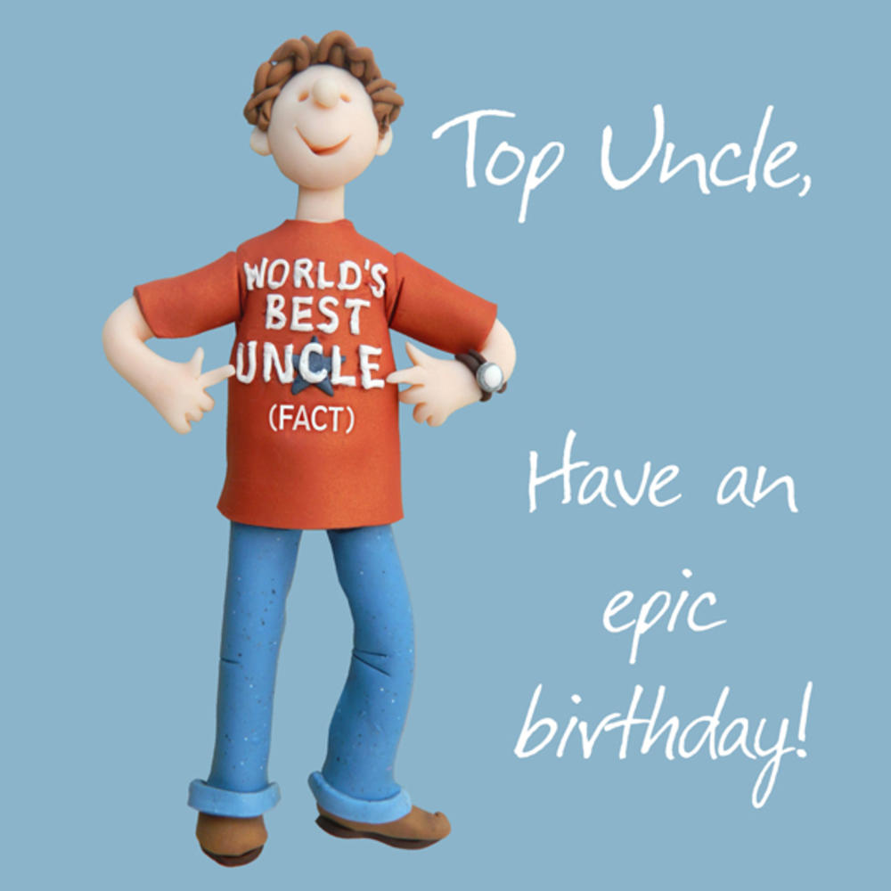 Top Uncle Birthday Greeting Card One Lump or Two