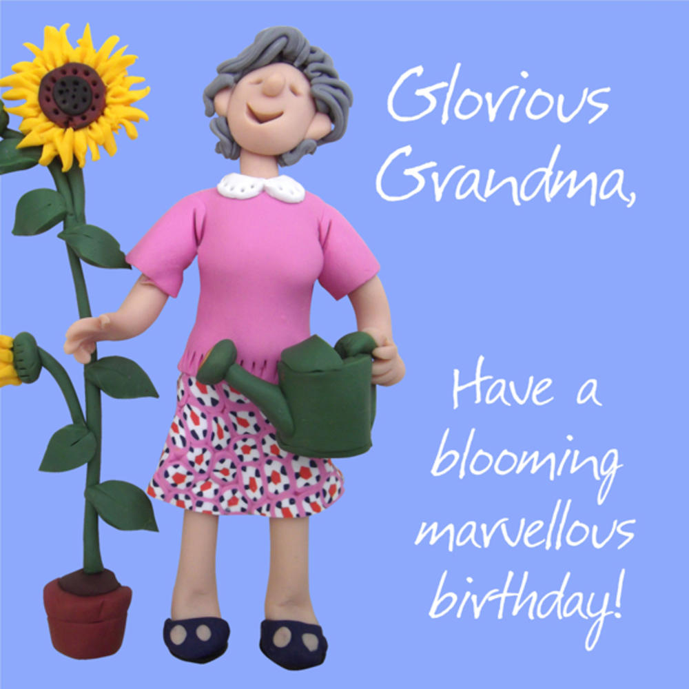 Glorious Grandma Birthday Greeting Card One Lump or Two