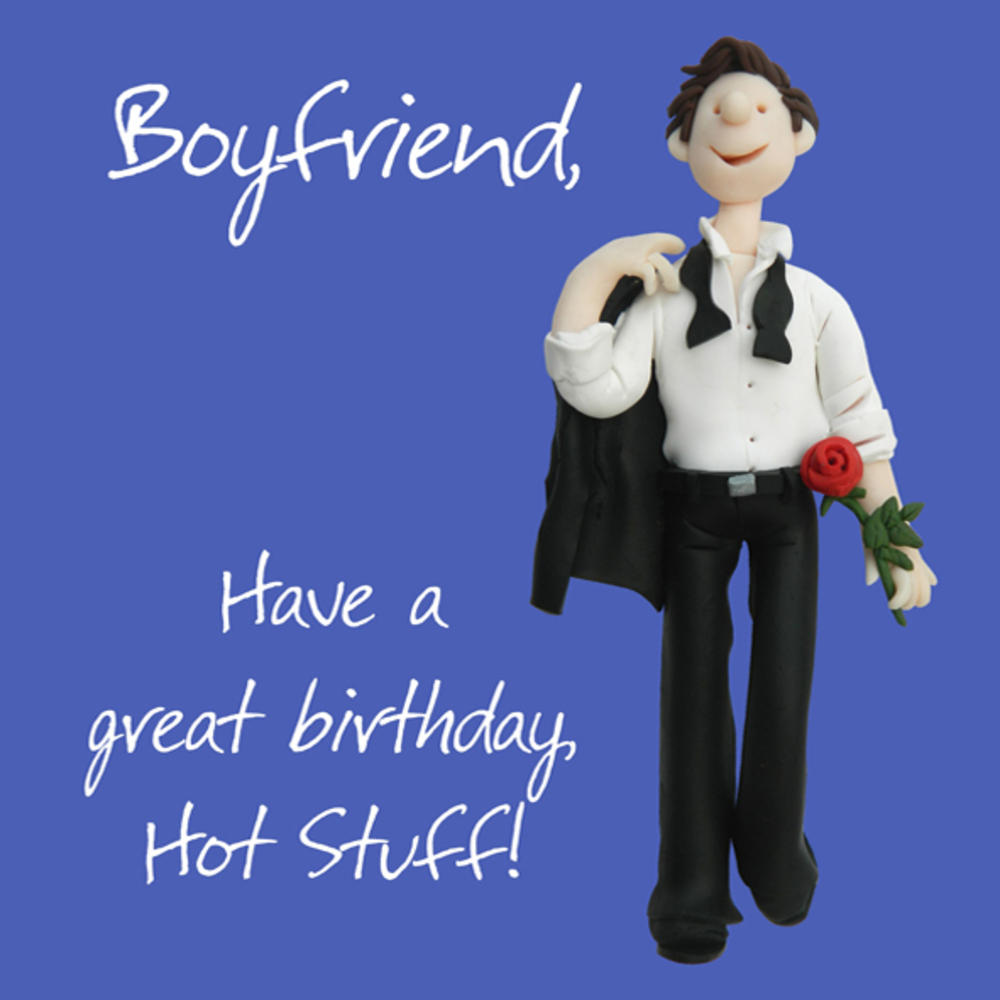Boyfriend Hot Stuff Birthday Greeting Card One Lump or Two