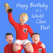 World Class Dad Birthday Greeting Card One Lump or Two