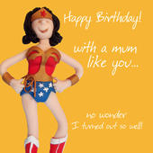 Wonderful Mum Birthday Greeting Card One Lump or Two