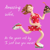 Amazing Wife Birthday Greeting Card One Lump or Two