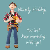 Handy Hubby Husband Birthday Greeting Card One Lump or Two