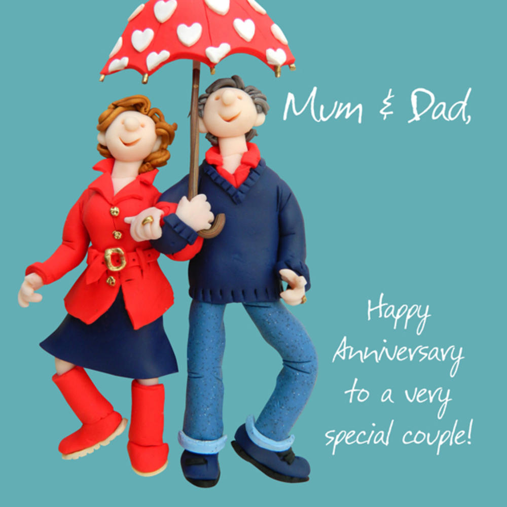 Mum & Dad Anniversary Greeting Card One Lump or Two