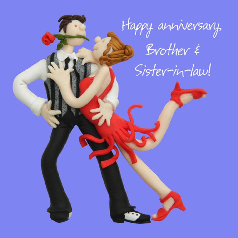 Brother & Sister-in-Law Anniversary Greeting Card One Lump or Two