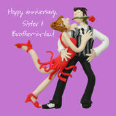 Sister & Brother-in-Law Anniversary Greeting Card One Lump or Two