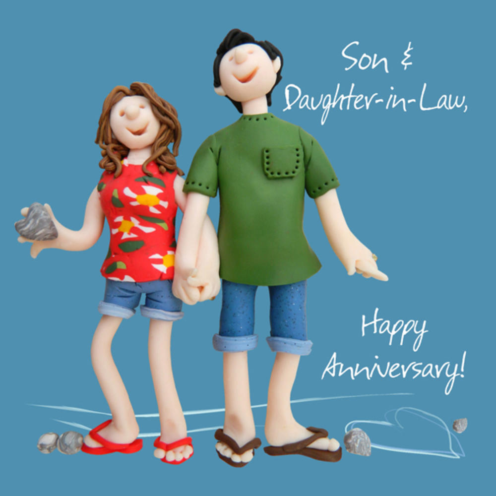 Son daughter in law anniversary greeting card one lump