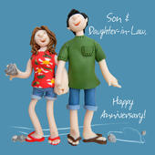 Son & Daughter-in-Law Anniversary Greeting Card One Lump or Two