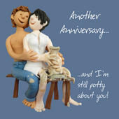 Still Potty About You Anniversary Greeting Card One Lump or Two