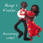 Always & Forever Anniversary Greeting Card One Lump or Two