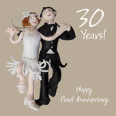 Happy 30th Pearl Anniversary Greeting Card One Lump or Two