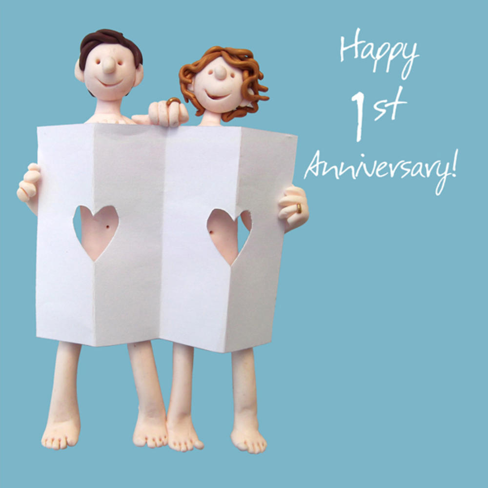 Happy 1st paper Anniversary Greeting Card One Lump or Two