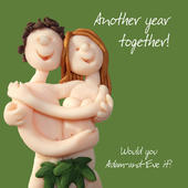 Another Year Happy Anniversary Greeting Card One Lump or Two