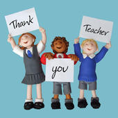 Thank You Teacher Thankyou Greeting Card One Lump or Two