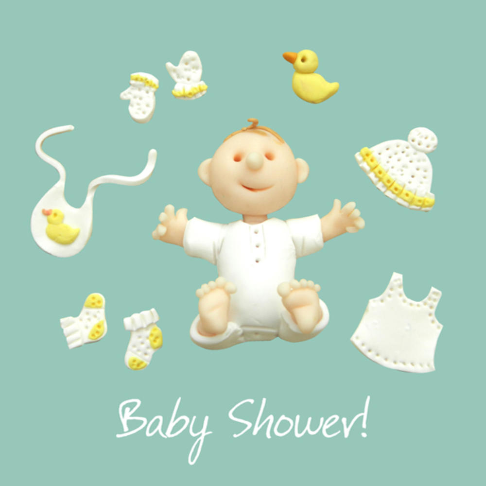 Baby Shower Greeting Card One Lump or Two