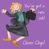 Congratulations New Job Greeting Card One Lump or Two