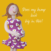 New Bump Congratulations Greeting Card One Lump or Two