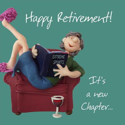 Happy Retirement Greeting Card One Lump or Two