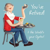 You've Retired Retirement Greeting Card One Lump or Two