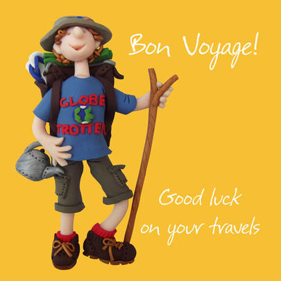 Bon Voyage Good Luck Greeting Card One Lump or Two