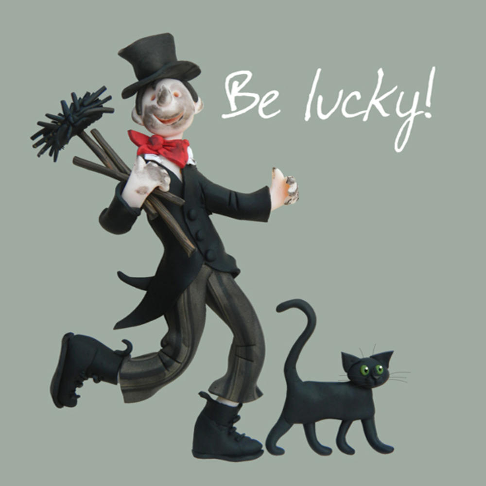 Be Lucky Good Luck Greeting Card One Lump or Two