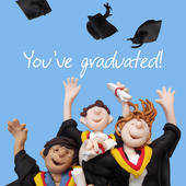 Congratulations You've Graduated Greeting Card One Lump or Two