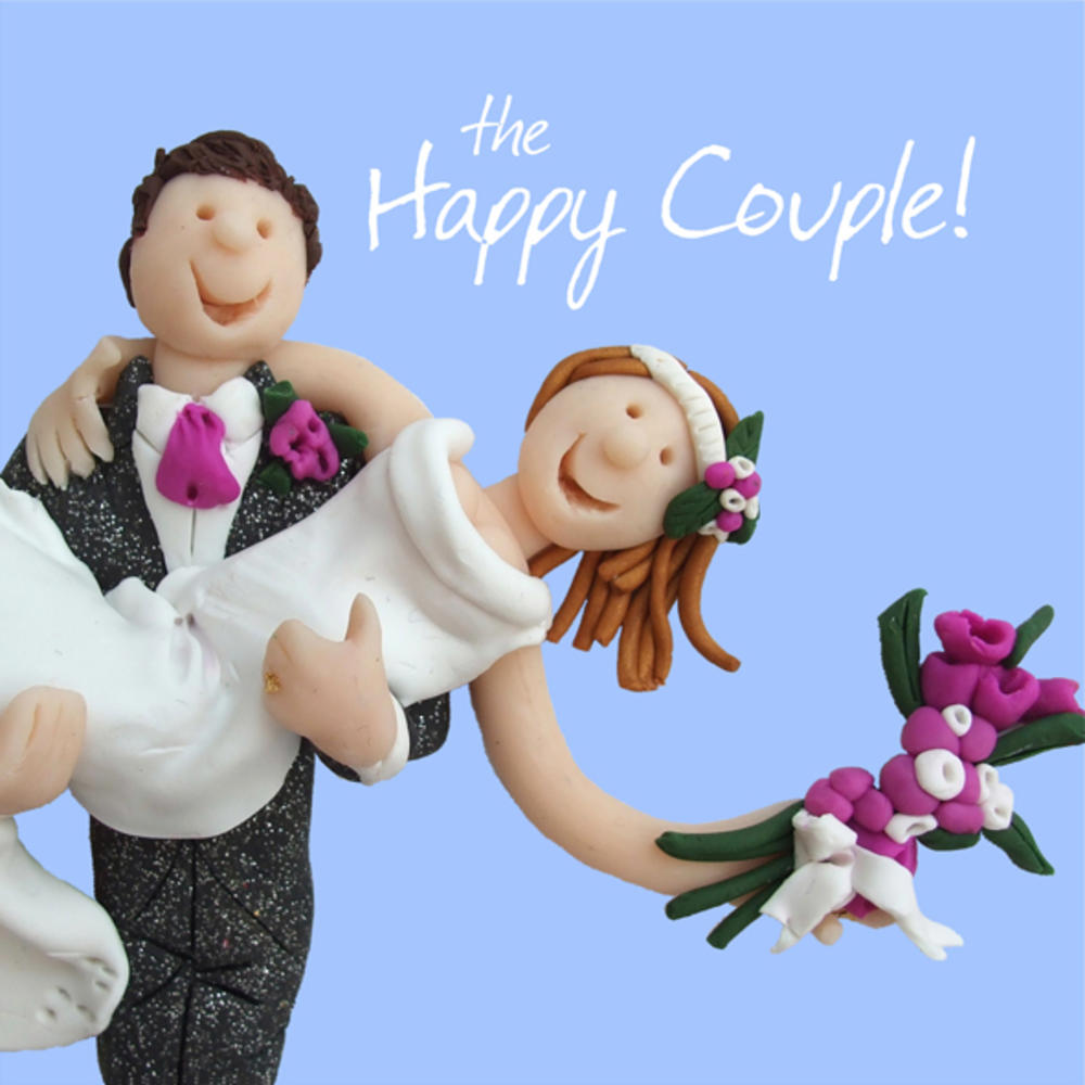 Happy Couple Wedding Greeting Card One Lump or Two Cards Love Kates
