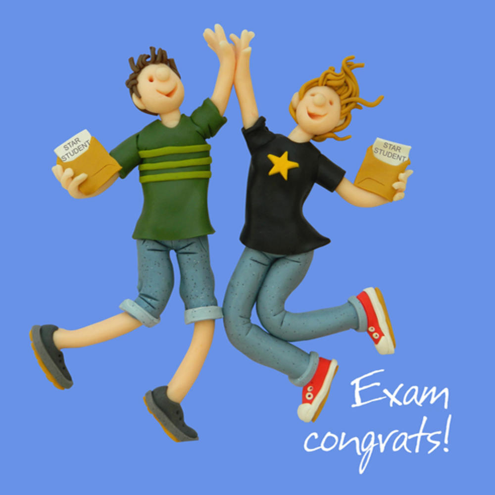 Exam Congrats Congratulations Greeting Card One Lump or Two