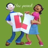 Congratulations You Passed Greeting Card One Lump or Two