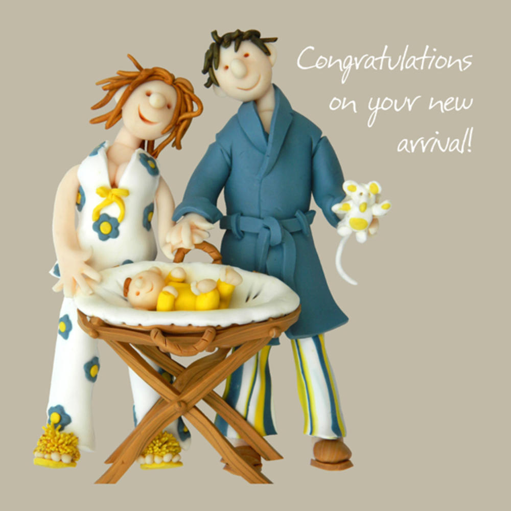 Congratulations New Arrival Greeting Card One Lump or Two