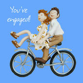 You're Engaged Engagement Greeting Card One Lump or Two