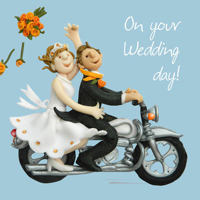 On Your Wedding Day Greeting Card One Lump or Two