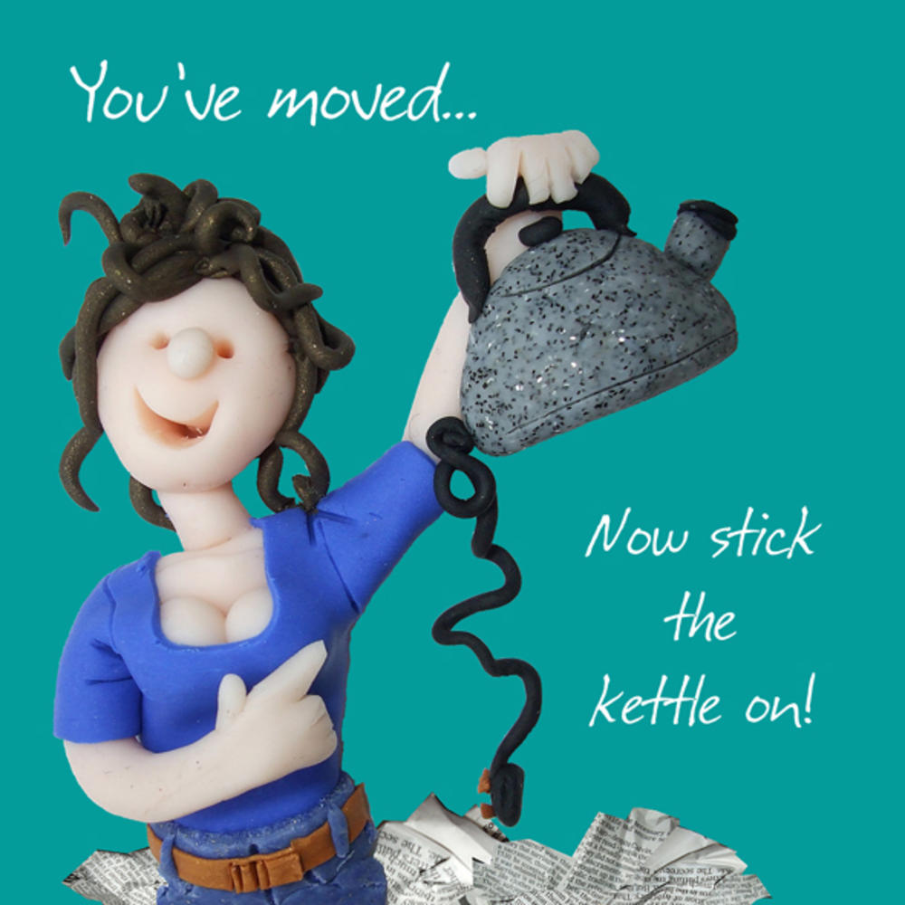 You've Moved New Home Greeting Card One Lump or Two