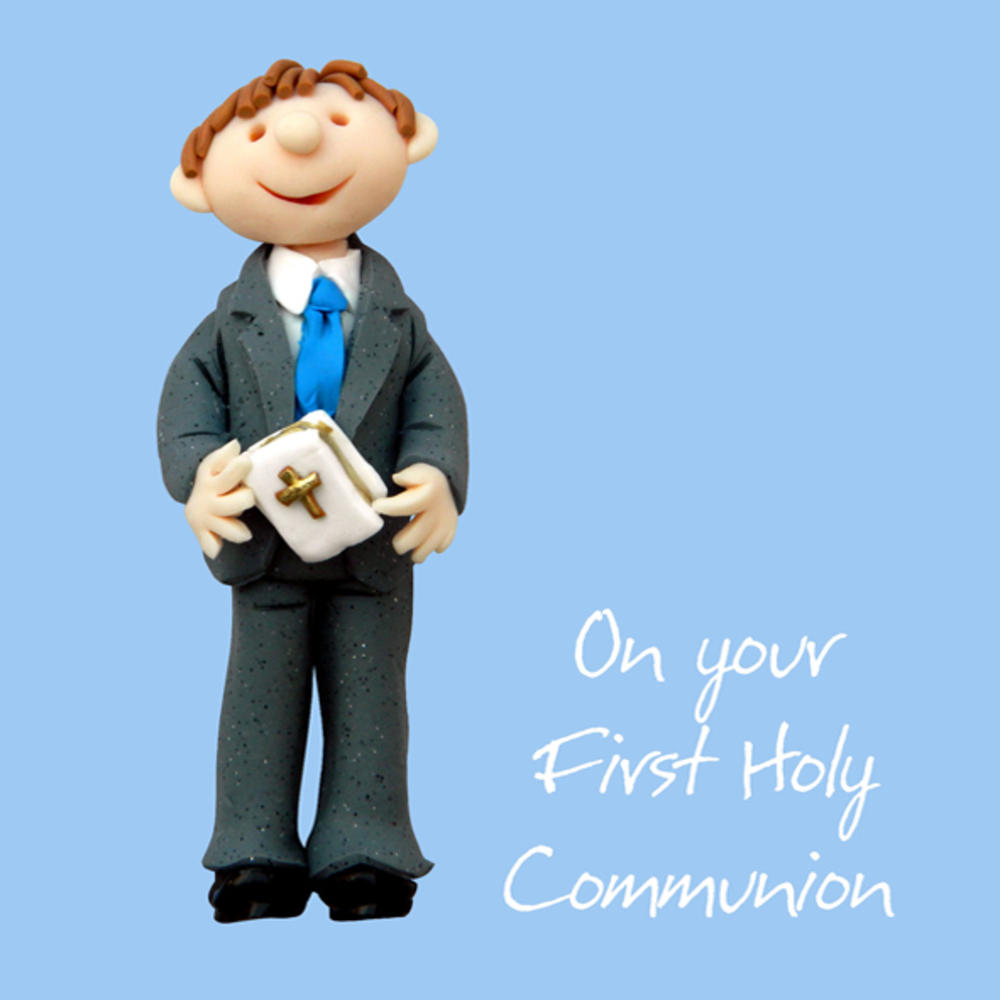 First Holy Communion Greeting Card One Lump or Two